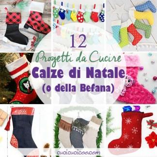 Festeggi Natale o la Befana in stile fai da te con questi 12 tutorial per cucire una calza di Natale! Cartamodelli e template di cucito compresi per feste handmade! #calzadellabefana #calzadinatale