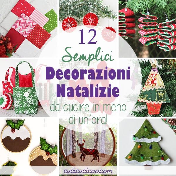 Queste 12 decorazioni natalizie da cucire sono semplici abbastanza per principianti, e veloce abbastanza da poterle realizzare in meno di un'ora! Perfetti per la casa o per regali fai da te! #addobbidinatale #decorazioninatalizie