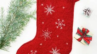 Cucire una calza di Natale fai da te (Befana)