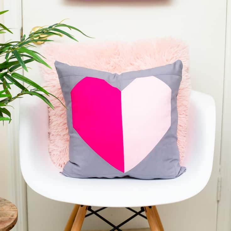 Cuscino patchwork cuore