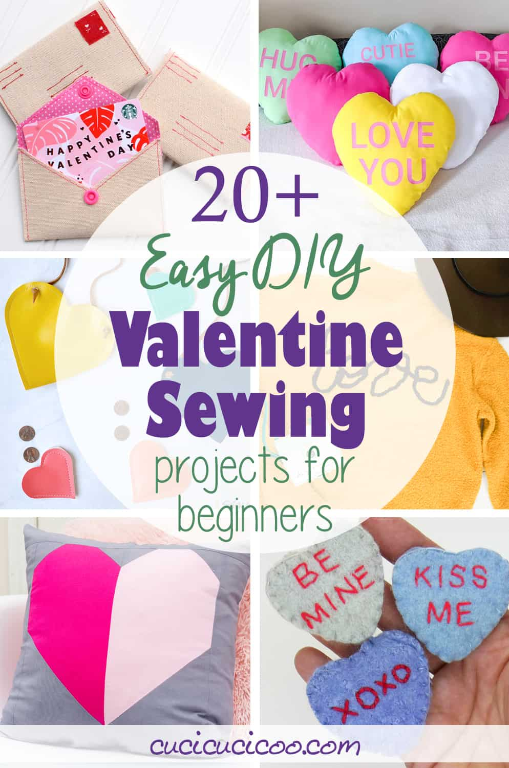 These are the best easy Valentine sewing projects for 2020! Decorate your home, embellish your clothing or create fun handmade gifts for your loved ones with over 20 free sewing patterns and tutorials! #valentinesdaysewing #valentinesdaygift #sewingtutorial
