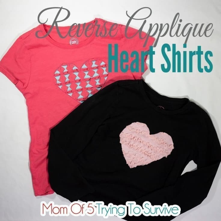 Reverse Applique Heart Shirt | Free Tutorial and Pattern