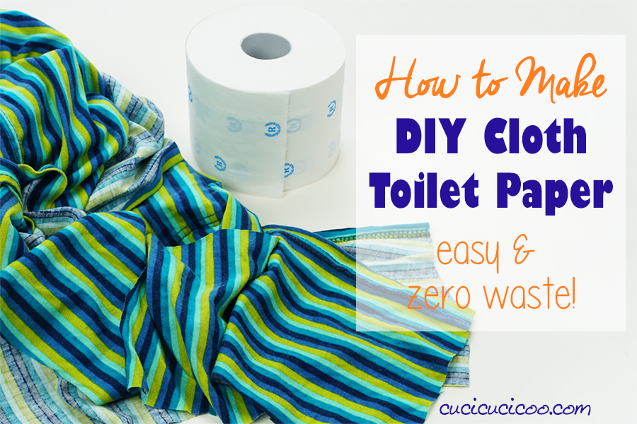 Learn how to make DIY cloth toilet paper for emergencies when there are no more toilet rolls left in the supermarket. No sew family cloth is zero waste, ecologically friendly and costs nothing when you repurpose old sheets and T-shirts! #zerowaste #familycloth #clothtoiletpaper