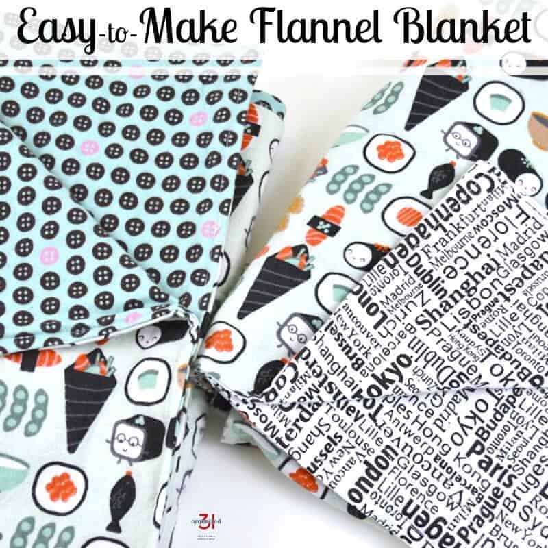 Easy-to-Make Flannel Blanket