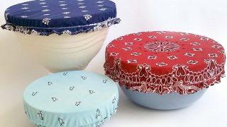 Reusable Bowl Covers with a Vintage Bandana