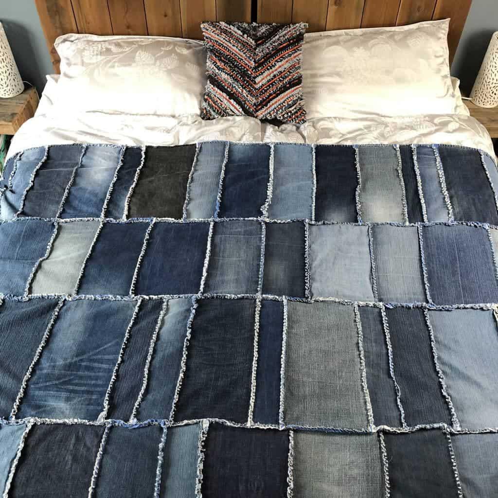 How to make a Rag Quilt – DIY Denim Quilt