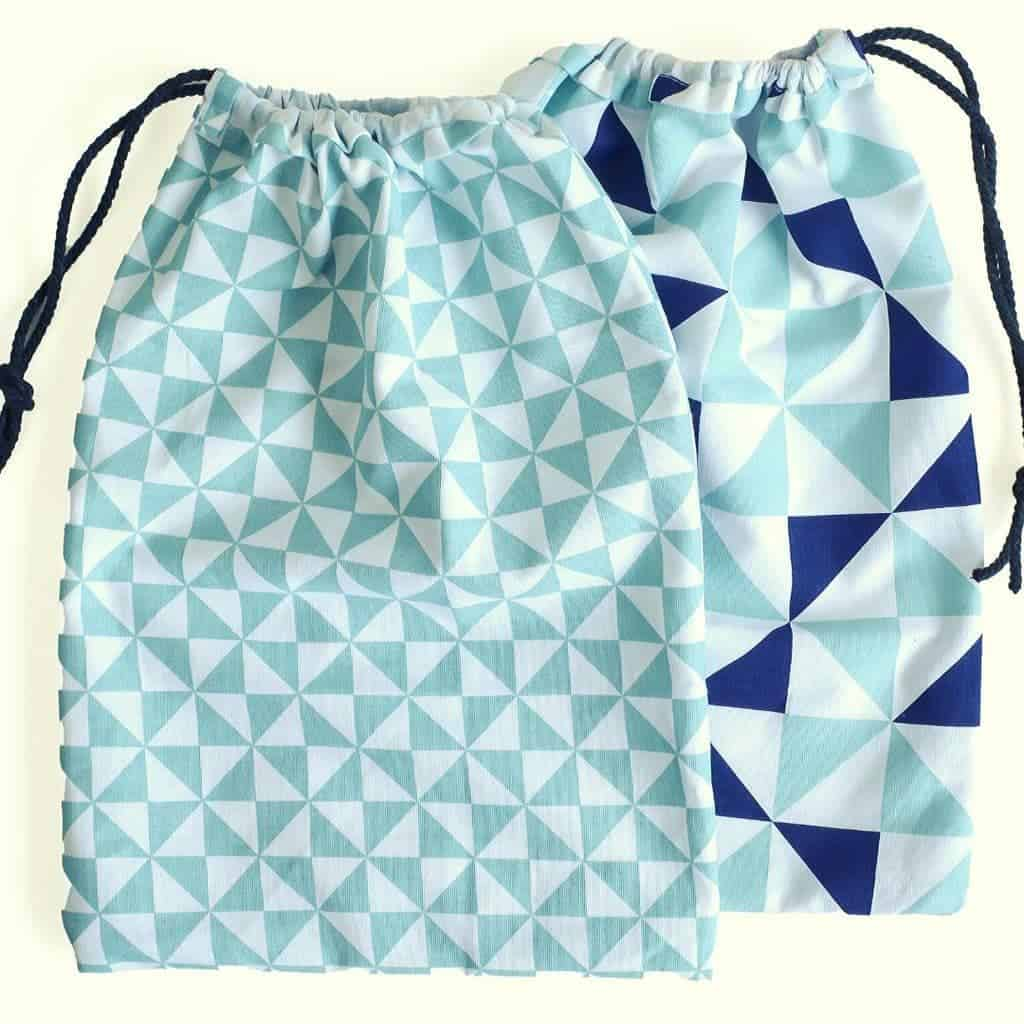 How to make a drawstring bag from a Tea Towel