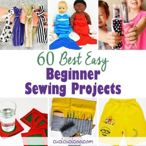 These easy beginner sewing projects are perfect when you're learning to sew! Simple instructions and techniques to make clothes and items you'll love using! #beginnersewing #easysewingprojects