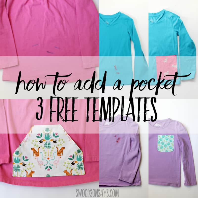How to add a pocket – 3 free sewing templates