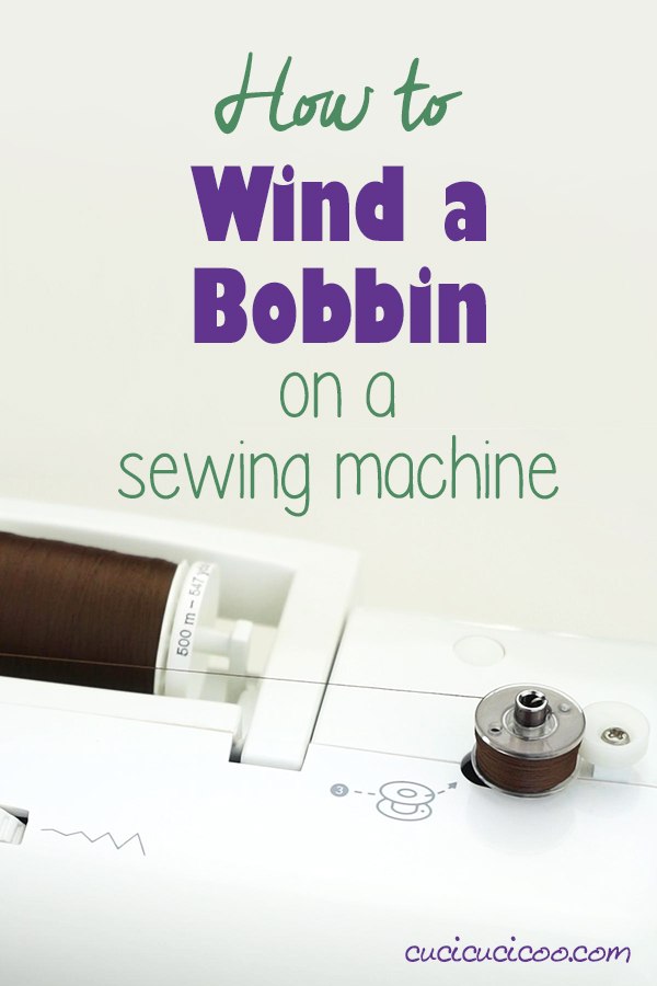 Learn about winding a bobbin on a sewing machine. Knowing how to wind a bobbin is very important and needs to be done for every spool of thread you sew with, and can be different for every model of sewing machine. Video tutorial included! #sewing #bobbin