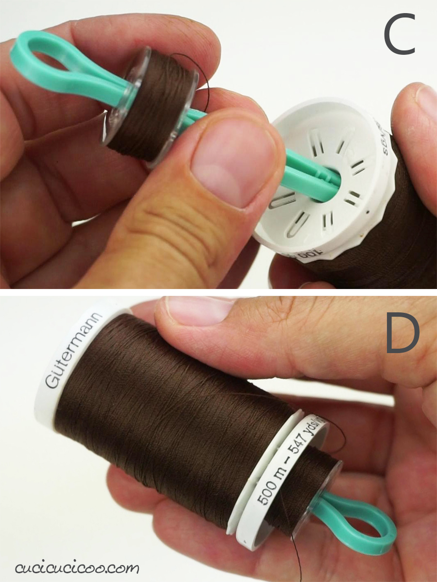 How to keep bobbins and spools of thread together: Use bobbin buddies or other bobbin clips to hold them together!
