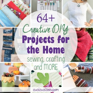 Get over 64 creative DIY ideas for the home, patterns and tutorials for clothing, and exclusive bonuses for the equivalent of 30¢ each with the Creative Home Projects bundle! Get an extra free pattern for signing up now! #diyhome #sewing