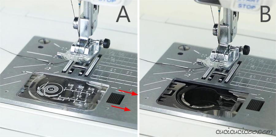 Caricamento della bobina in una macchina da cucire con carica dall'alto. #cucire #cucito