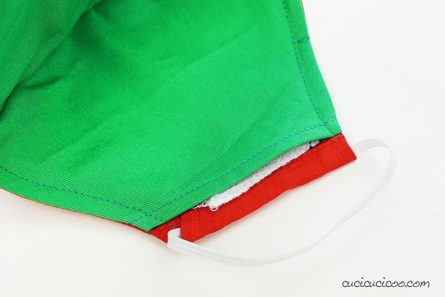 La tasca del filtro della mascherina fai da te di Natale. (cartamodello gratis)