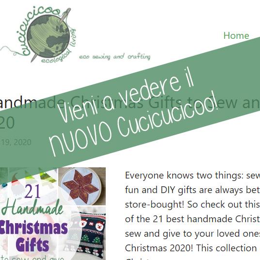 Facciamo un giro del nuovo Cucicucicoo: Eco Sewing and Crafting per 2021! Il nuovo blog e lo shop di cartamodelli sono più semplici, veloci e senza glitch! #cucire #cucito