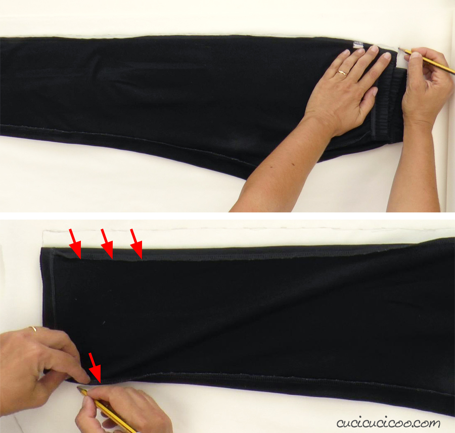 The best tutorial around for tracing your clothes to make your own DIY pants sewing pattern! Perfect for any size trousers!
