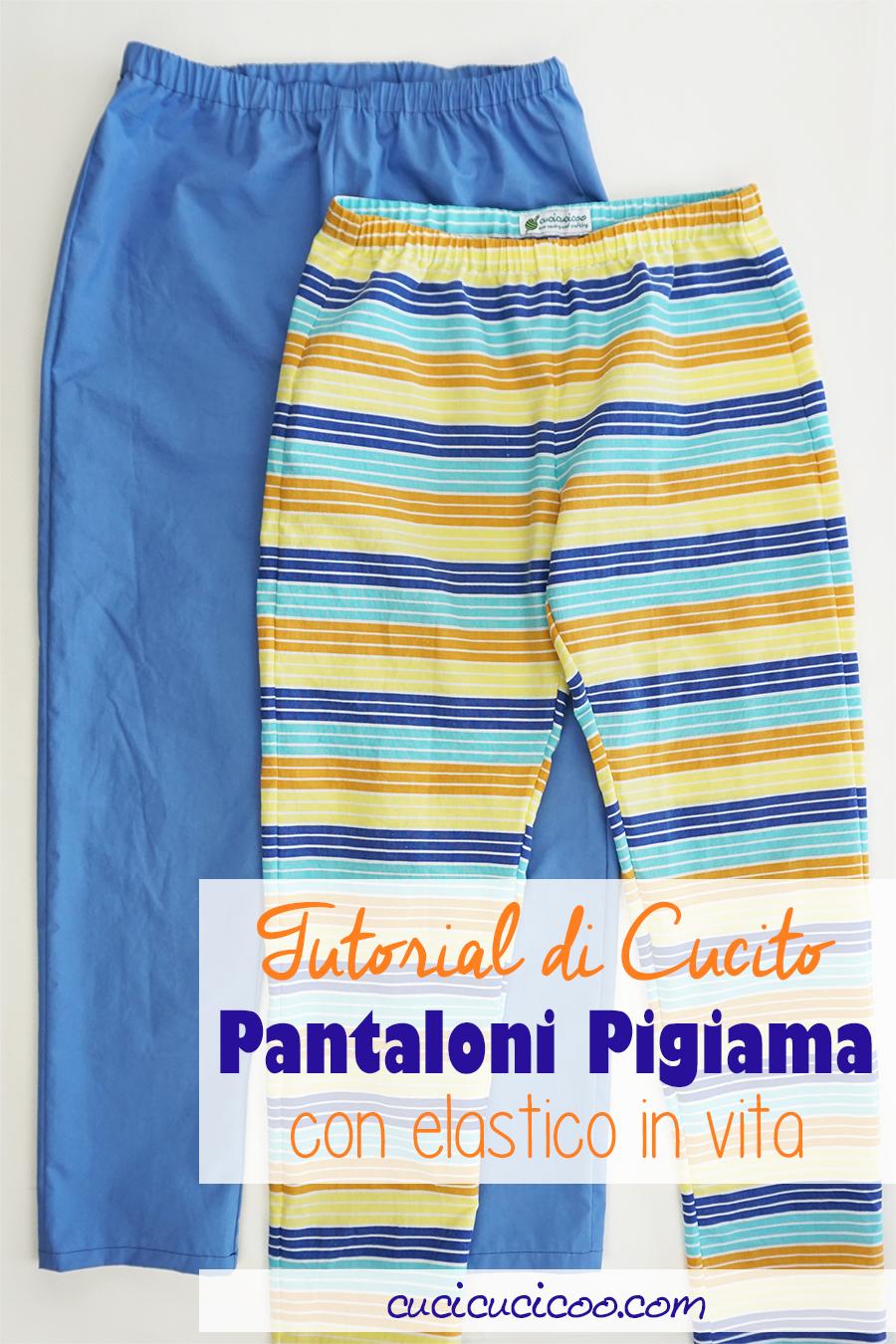 Impara come cucire pantaloni con elastico in vita con questo tutorial dettagliato! I pantaloni di pigiama sono semplice da cucire anche per principianti! #cucire #cucito