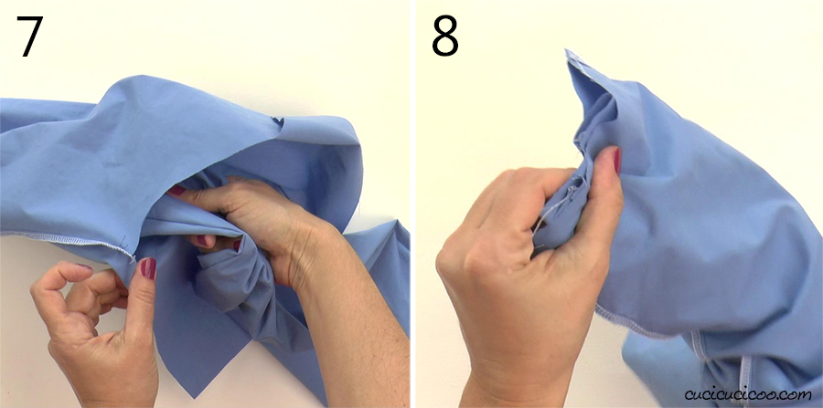 How to join the two legs when you're sewing a pair of pants.