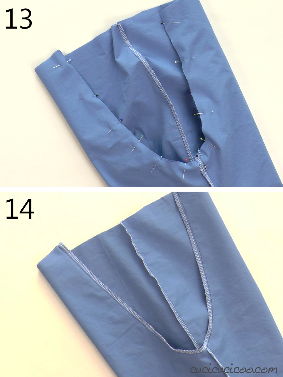How to sew the crotch seam when you're sewing a pair of pants.