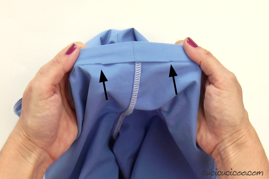 Leave an opening in your waistband casing to insert the elastic.