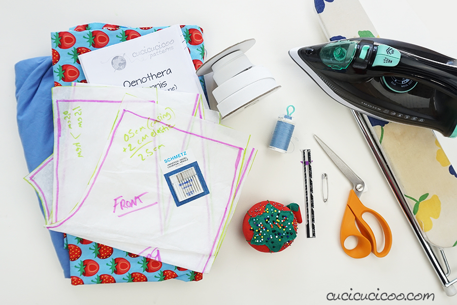 Materials to sew your own pair of pajama pants