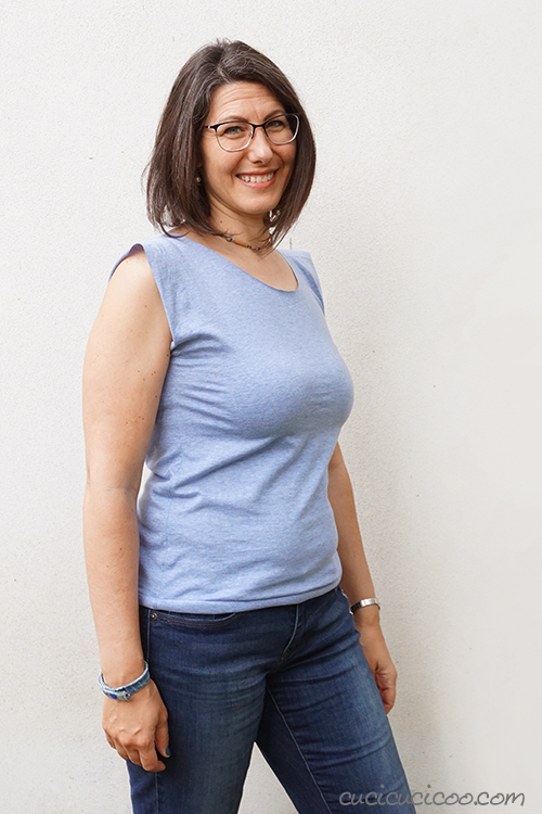 Try on your new handmade T-shirt for beginners