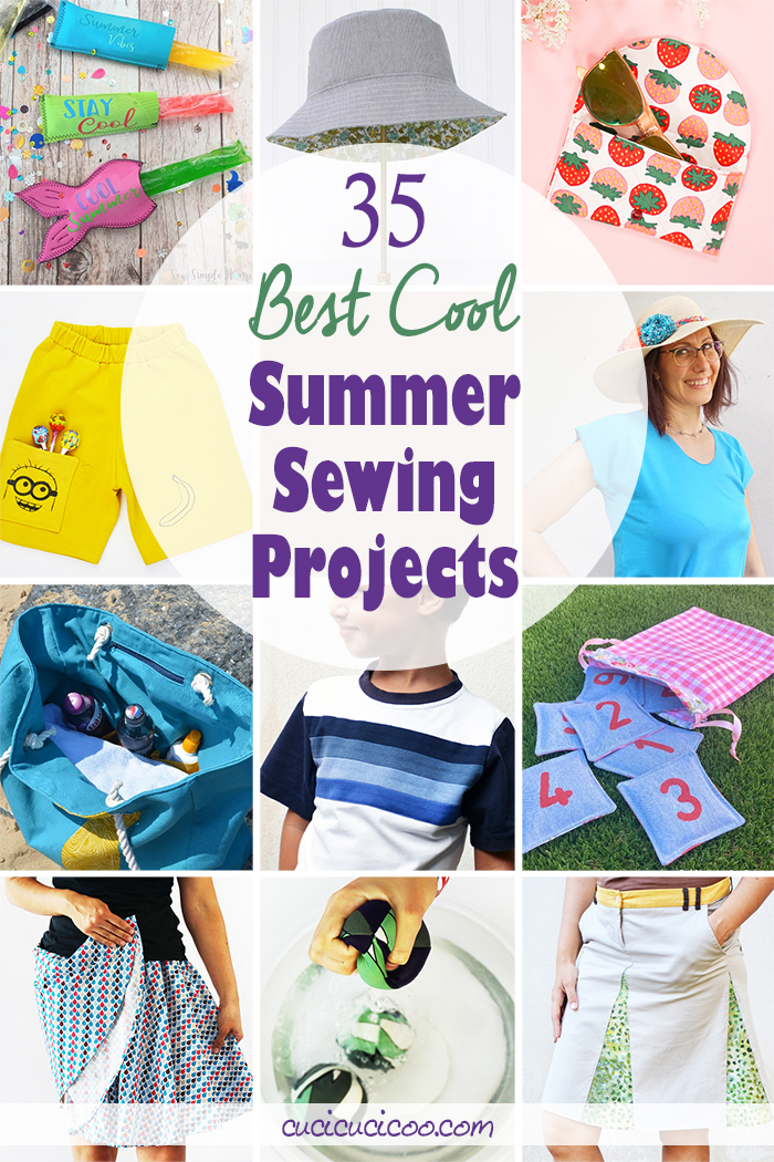 Keep temperatures down with the 35 best cool summer sewing projects perfect for beginners or experienced sewists! Clothing, beach accessories, toys and more! #summersewing #sewingprojects