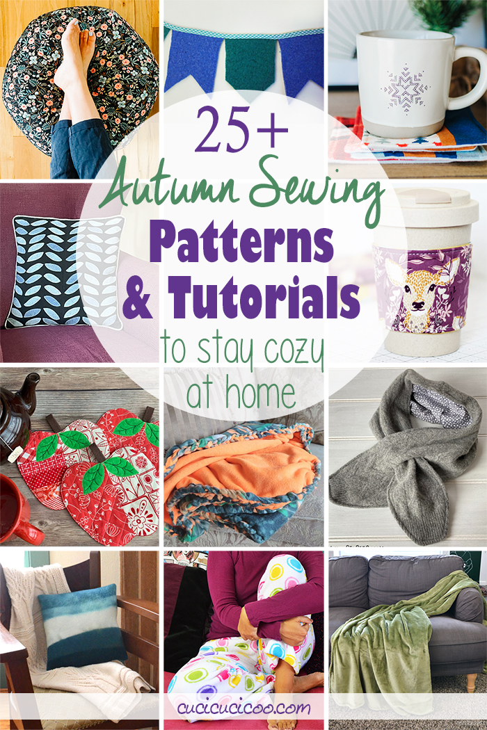 Get the 25+ best autumn sewing patterns and fall sewing projects to stay warm and cozy at home! The whole family will love these creative ideas for the cool fall weather!