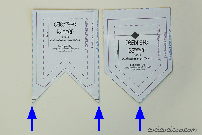 Cut out the pattern to sew a DIY felt banner