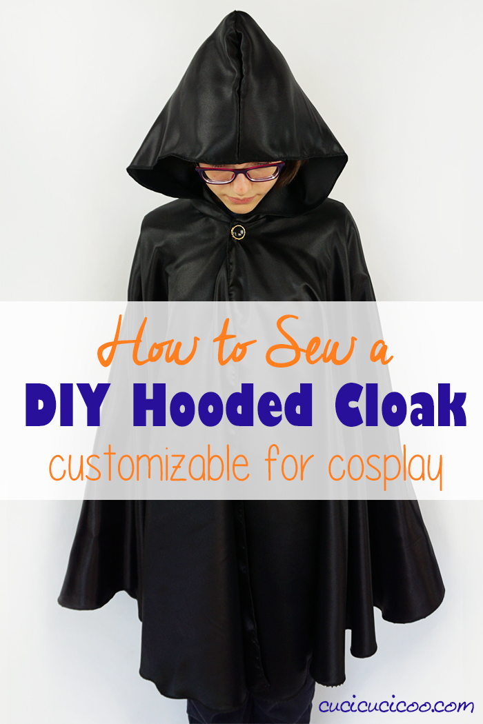 This DIY hooded cape is perfect for kids and adults because you make it to measure, without a pattern! Dress up as a wizard, witch or superhero or adapt it to your favorite character for cosplay events!